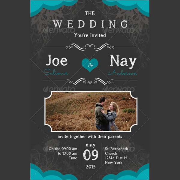 Attractive Wedding Invitation Card Template