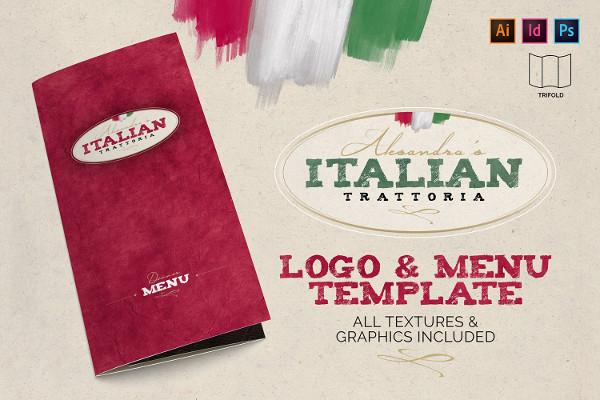 Italian Trattoria Menu & Logo Template