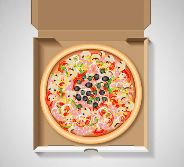 Free Pizza in the Box Mock-Up