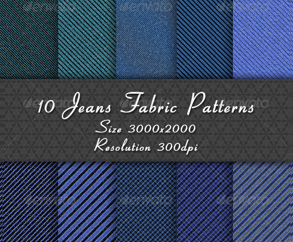 Jeans Fabric Pattern Collection