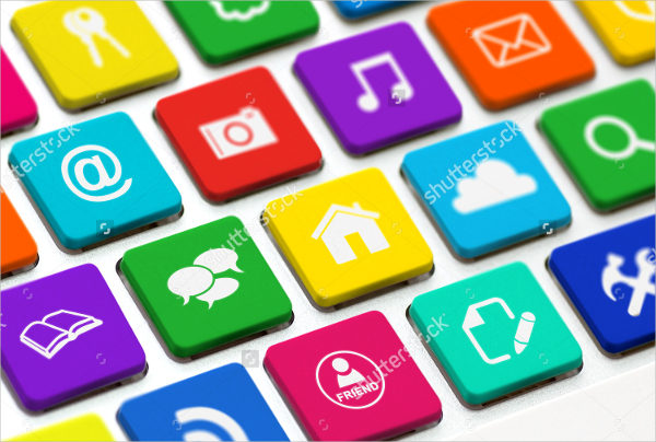 Colorful Buttons for Social Media