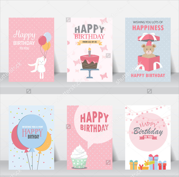Set Of Kids Birthday Invitation Templates