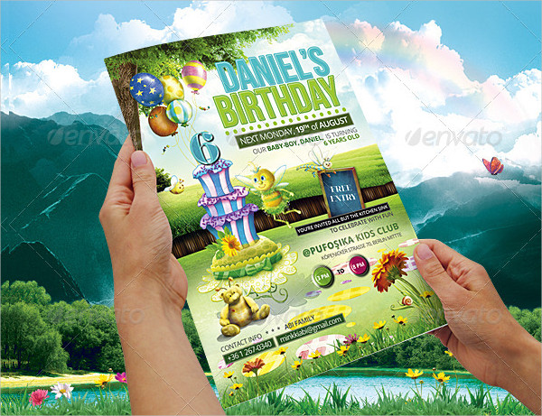 Kids Birthday Poster or Flyer Templates