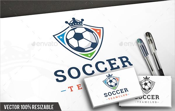 King Soccer Logo Template