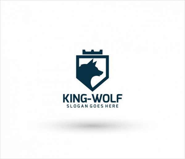 King Wolf Logo Template Free Vector