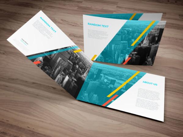 PSD Mockup for Landscape Brochure Design