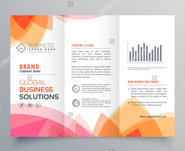 Soft Pink Trifold Brochure