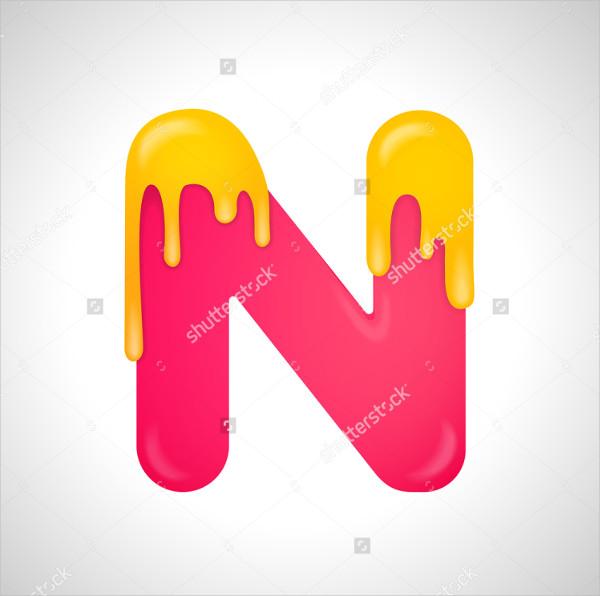 Colorful Letter N Logo Design Template