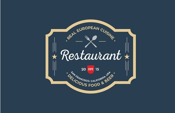Clean & Modern Restaurant Logo Templates