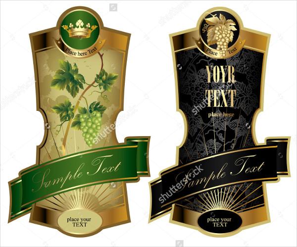 Luxurious Wine Label Templates