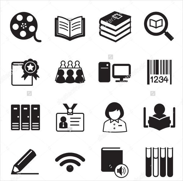 Vector Library Icon Set