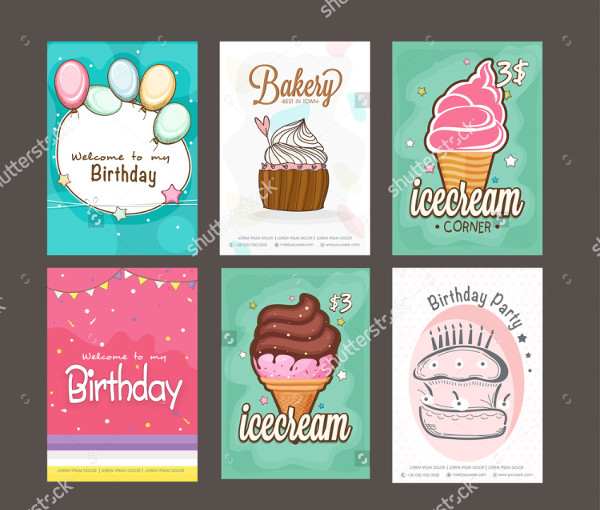 Mega Collection of Bakery & Birthday Flyer Templates