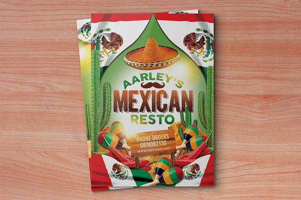 Mexican Menu Design Template