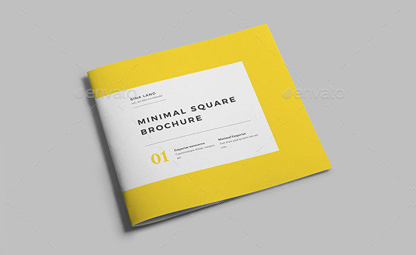 Minimal Square Brochure Template