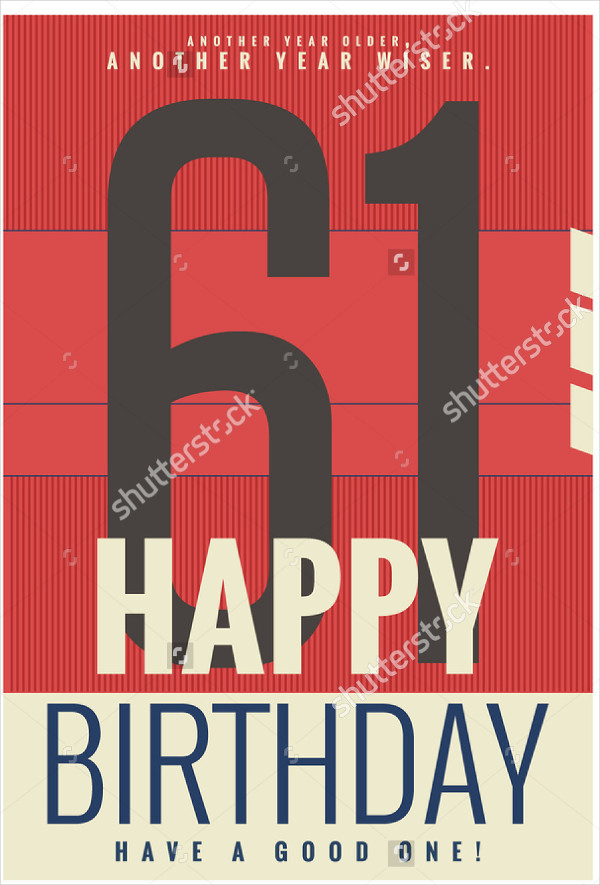 Simple Birthday Poster Template