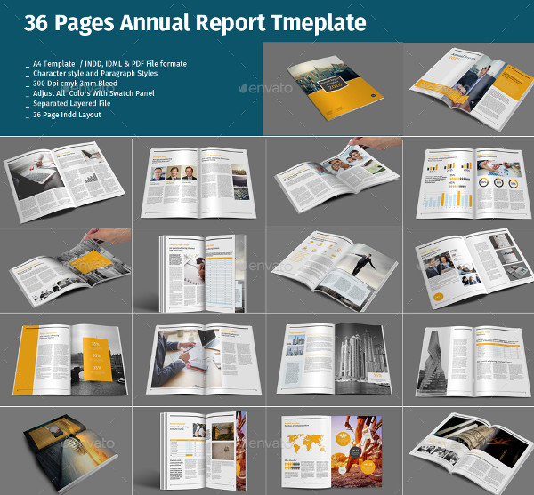 Modern Business Annual Report Templates Bundle