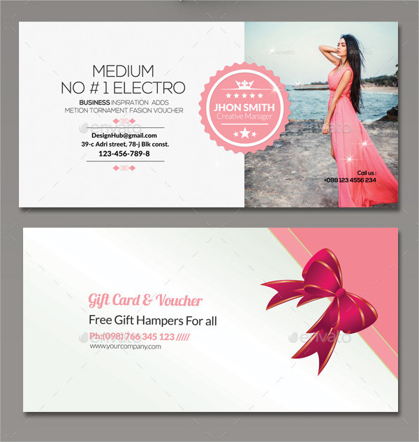 39 business gift voucher templates free premium download modern business gift card template wajeb Gallery