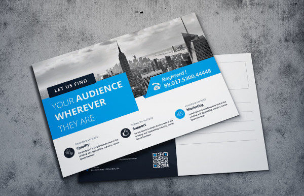 Modern Postcard Template for any Business