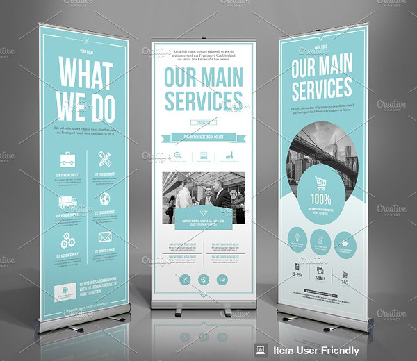 Modern Business Roll-Up Banner Template