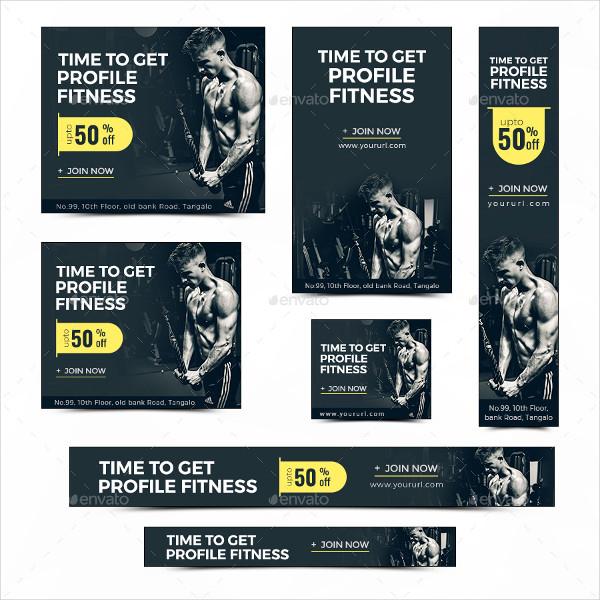 Modern Fitness Banner Templates
