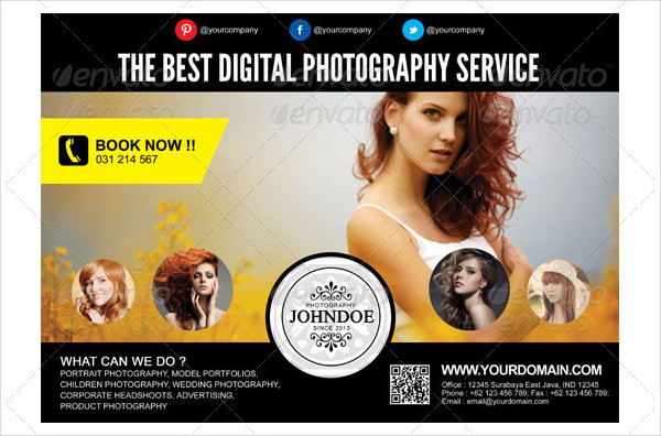 Modern Photography Service Flyer Template