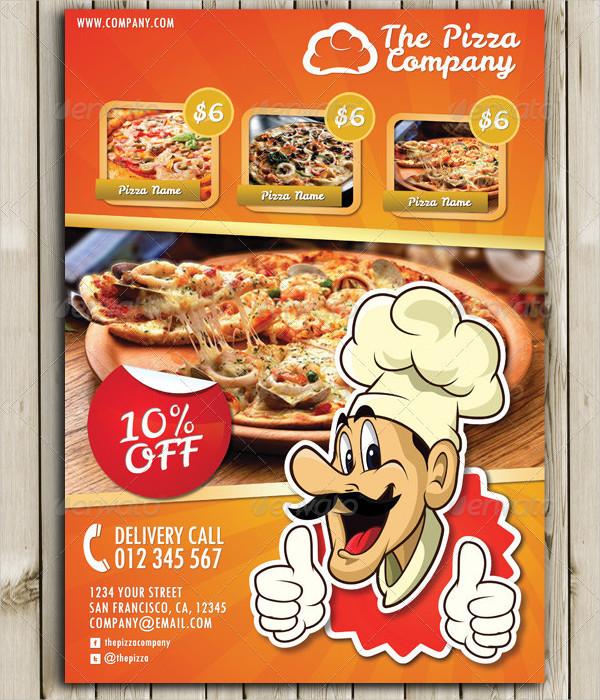 Printable Pizza Menu Flyer Template