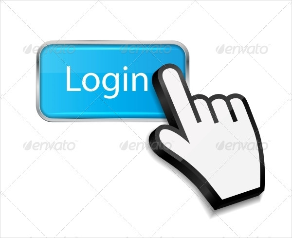 Mouse Hand Cursor on Login Button
