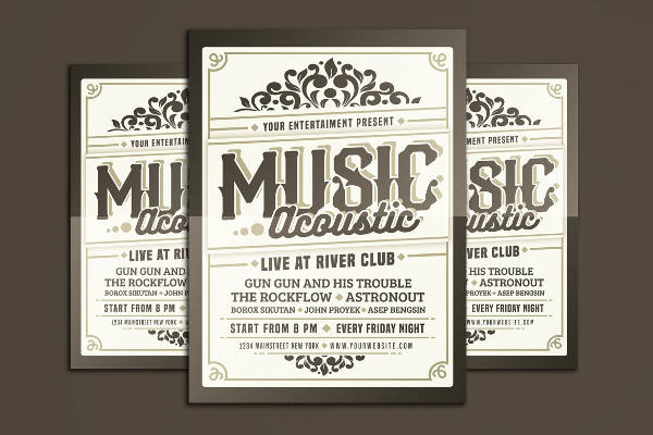 Music Acoustic Event Flyer Template
