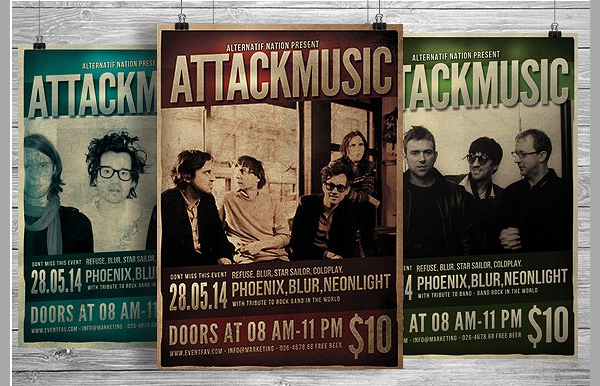 Music Indie Gig Flyer Template