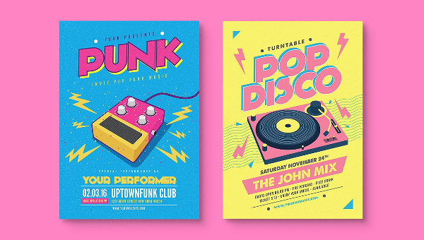 45 music flyers free psd ai eps vector format download