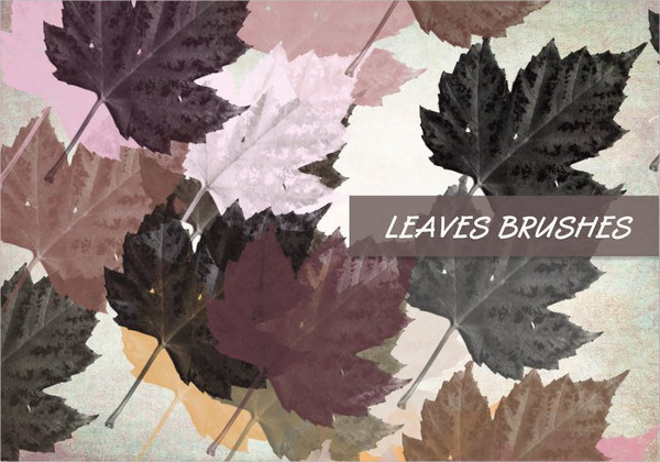 New Photoshop Leaves Brushes Set Free Download