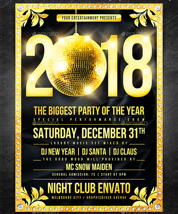 New Year Disco Flyers Bundle