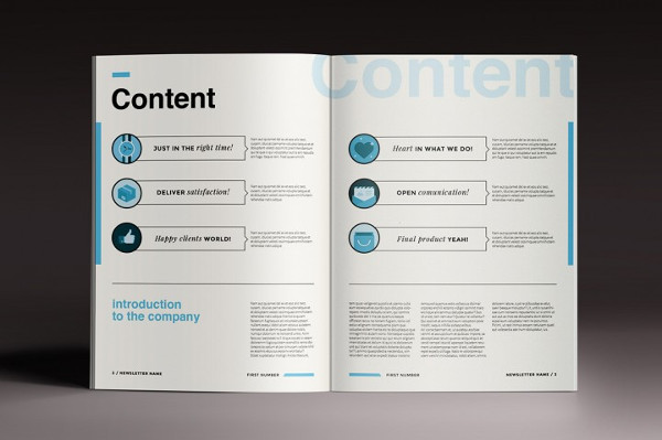 Newsletter Brochure Indesign Template