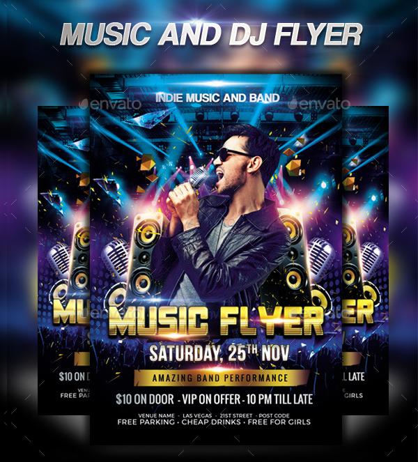 Music & DJ Flyer Template