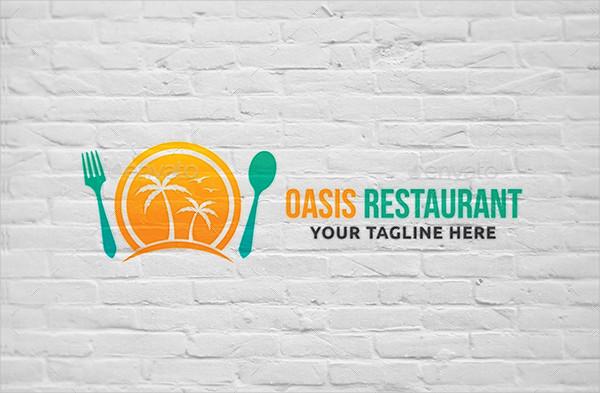 Oasis Restaurant Logo Template