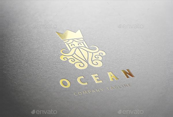 Ocean King Logo Template