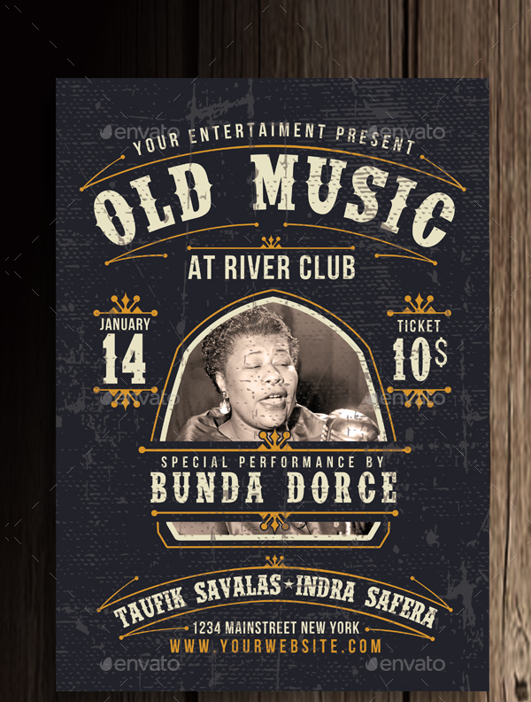 Old Music Flyer or Poster Template