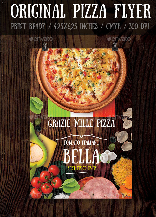 Original Pizza Flyers Template