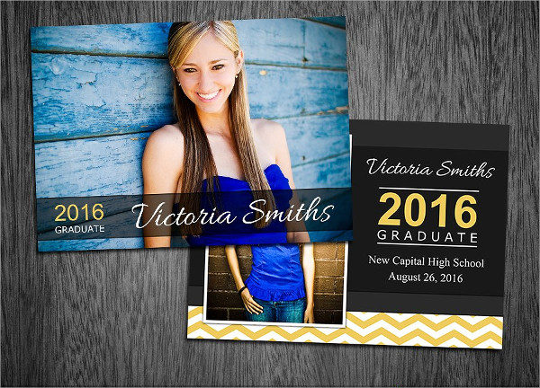 Editable Graduation Card Template