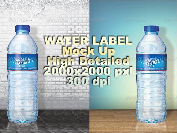 Custom Water Label Template