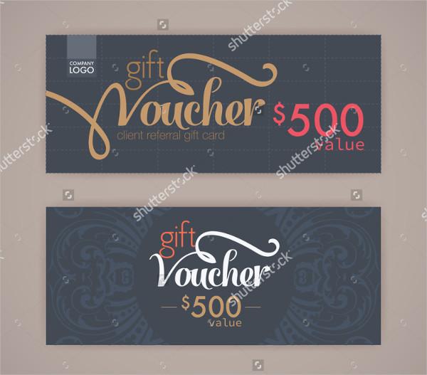 Clean Gift Voucher Template
