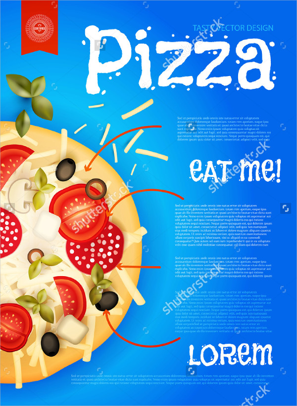 Hot Pizza Design Flyers Template