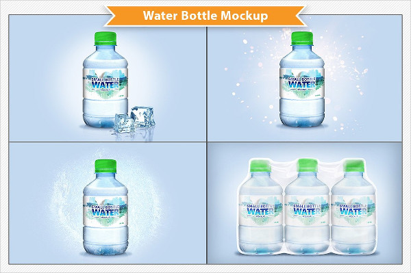 Perfect Water Bottle Labels Mockup