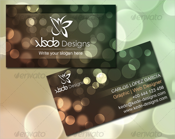 Bokeh Visiting Cards Template