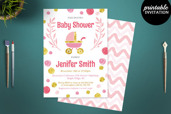 Personalized Baby Shower Invitation Card Template