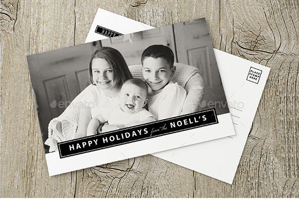 Personalized Holiday Greeting Postcard Template