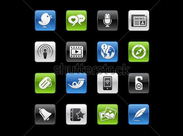 Social Media Button Series