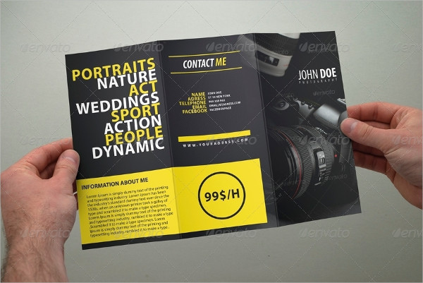 Best Photography Brochure in Tri-Fold