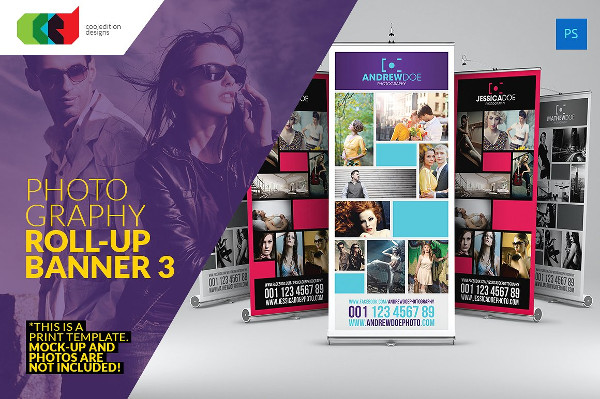 Photography Business Roll-Up Banner Templates