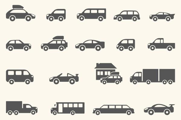 Stylish Car Vector Icons